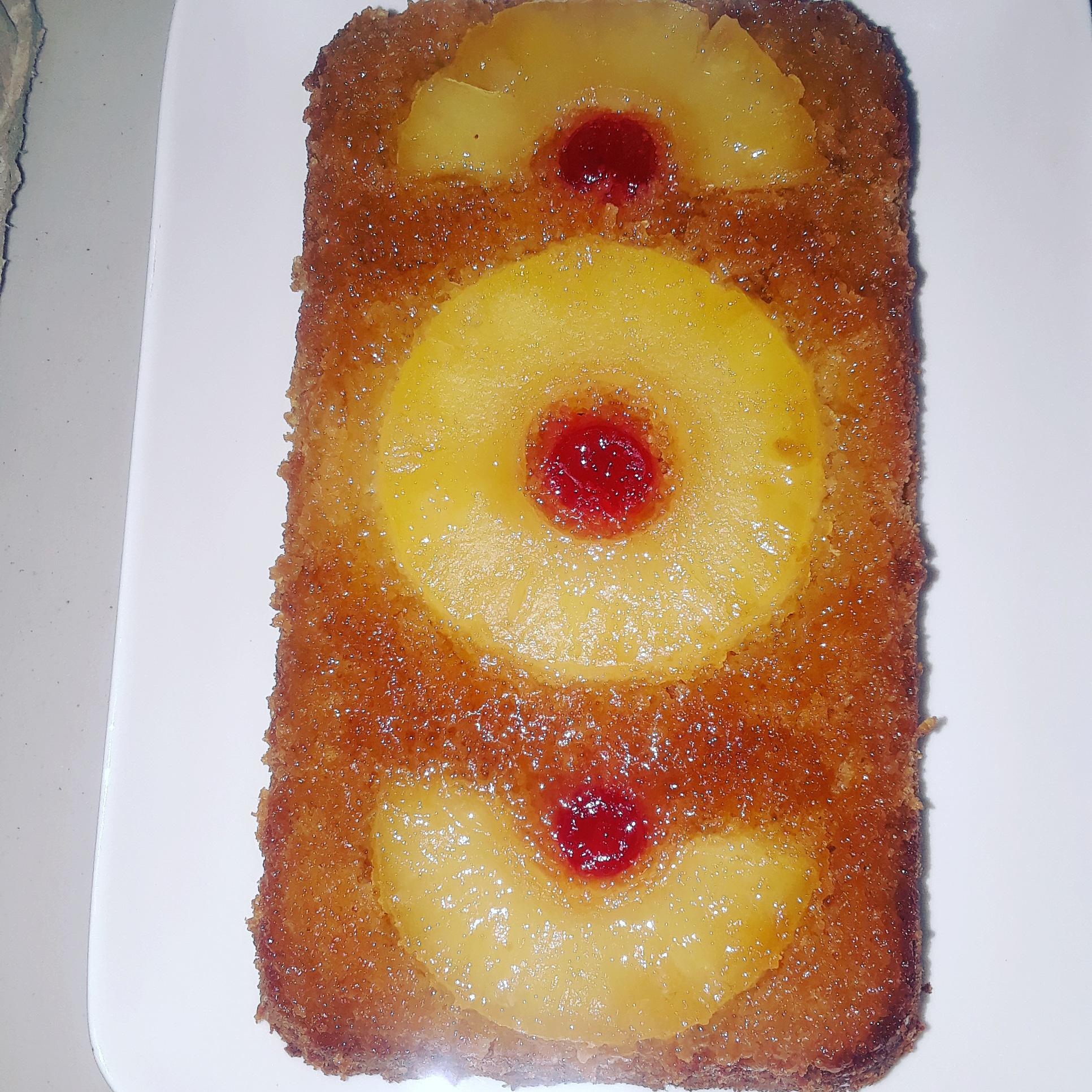 Gluten free pineapple upside down cassava cake.