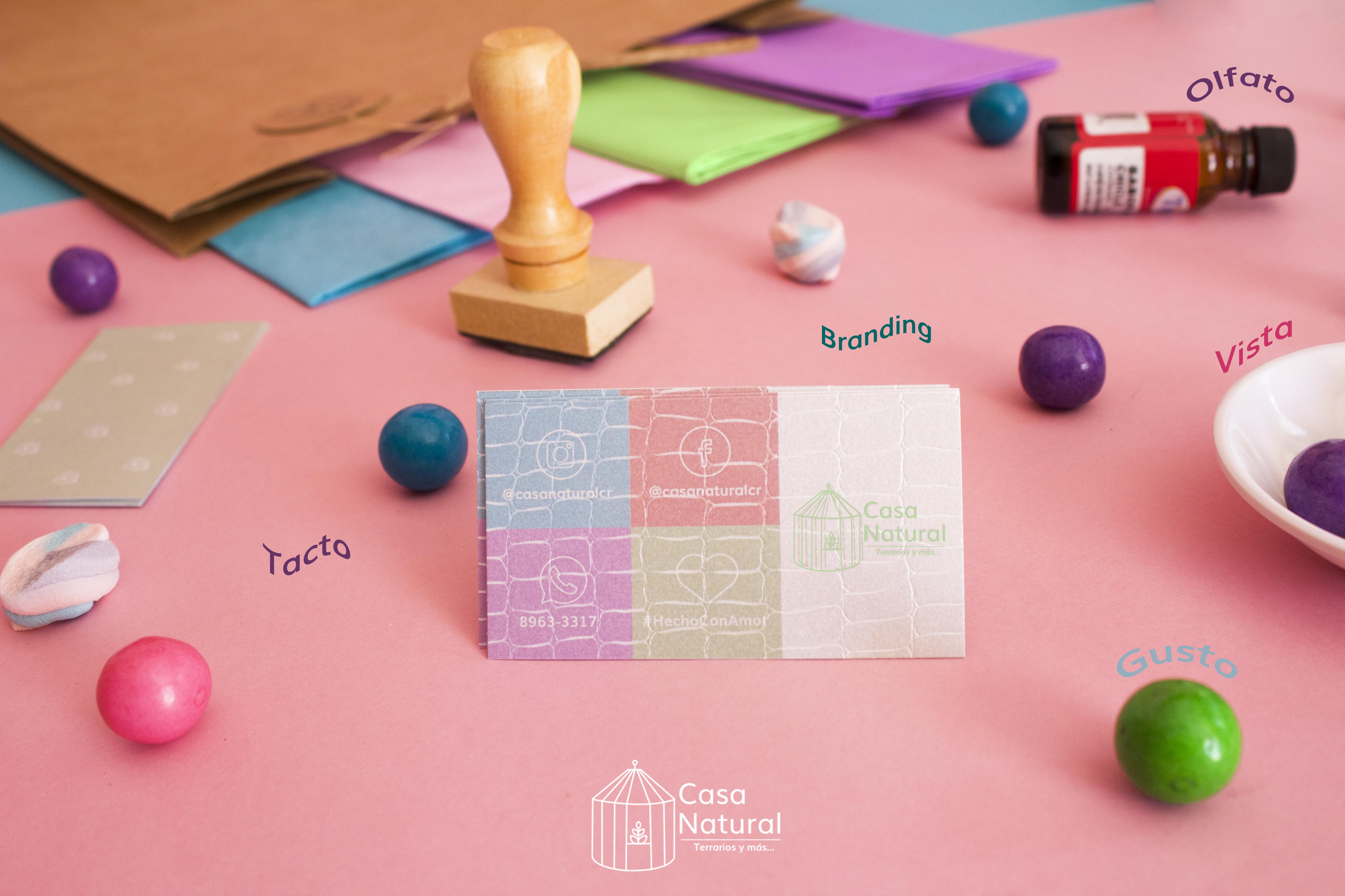 Nuestra marca es: creativa, divertida y sensorial. En esta nueva imagen de Casa Natural decidimos involucrar los sentidos (sensorial) con el fin de crear emociones, beneficios y personalidad; de esta manera reforzando lo que es nuestra marca.