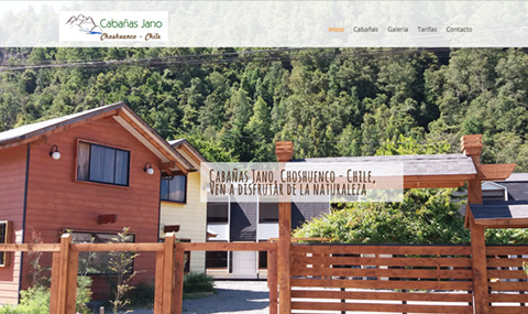 Logotipo y web cabañas jano