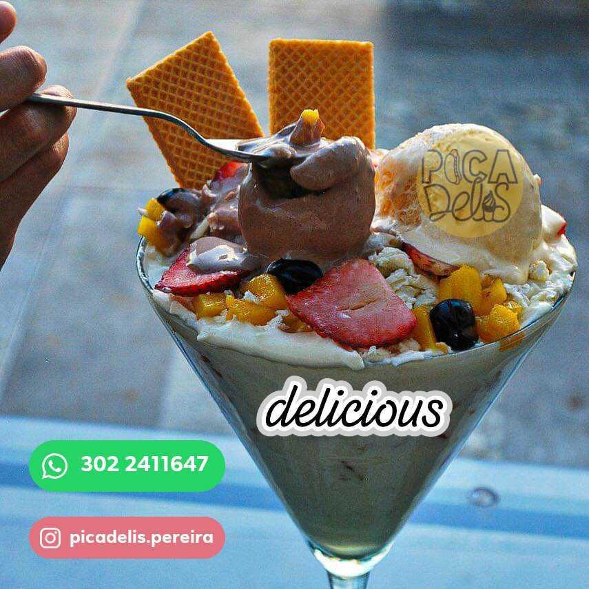 Deliciosos productos de heladería