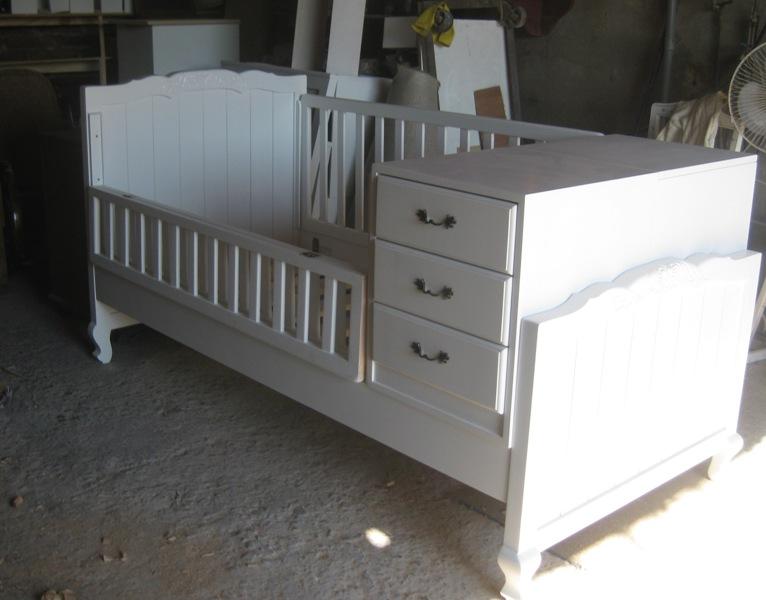 Cuna Provenzal Convertible en cama de una plaza $460.000