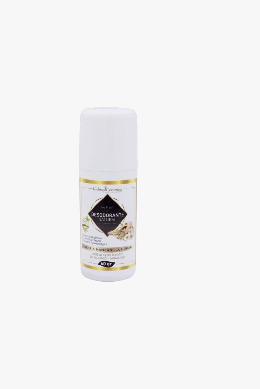 Desodorante Natural Para Hombre 24 Horas De Protección * 60 Gramos   Desodorante natural a base de piedra lumbre e ingredientes bio activos con extractos de salvia, caléndula y manzanilla que neutralizan el desarrollo de bacterias.