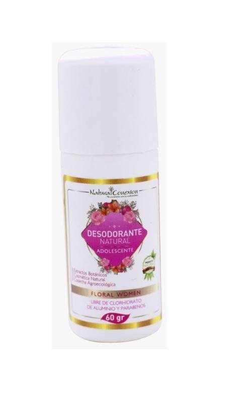 Desodorante Natural Para Niña 24 Horas De Protección * 60 Gramos   Desodorante natural a base de piedra lumbre e ingredientes bio activos con extractos de salvia, caléndula y manzanilla que neutralizan el desarrollo de bacterias.